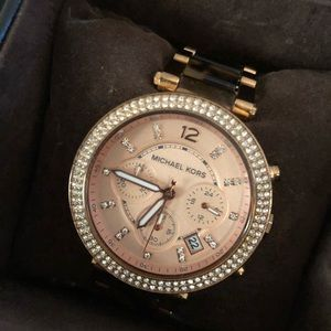 Michael Kors Rosegold and brown watch